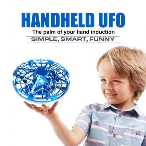 Kids Drone Flying Toys With Infrared Sensor Hand Control Ufo Style Mini Drone